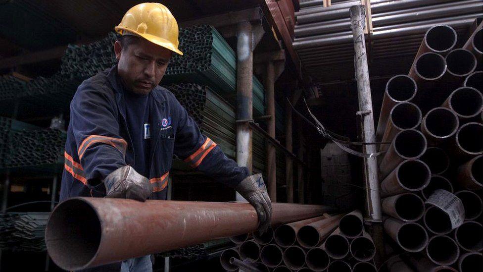 Steel worker in Mexico