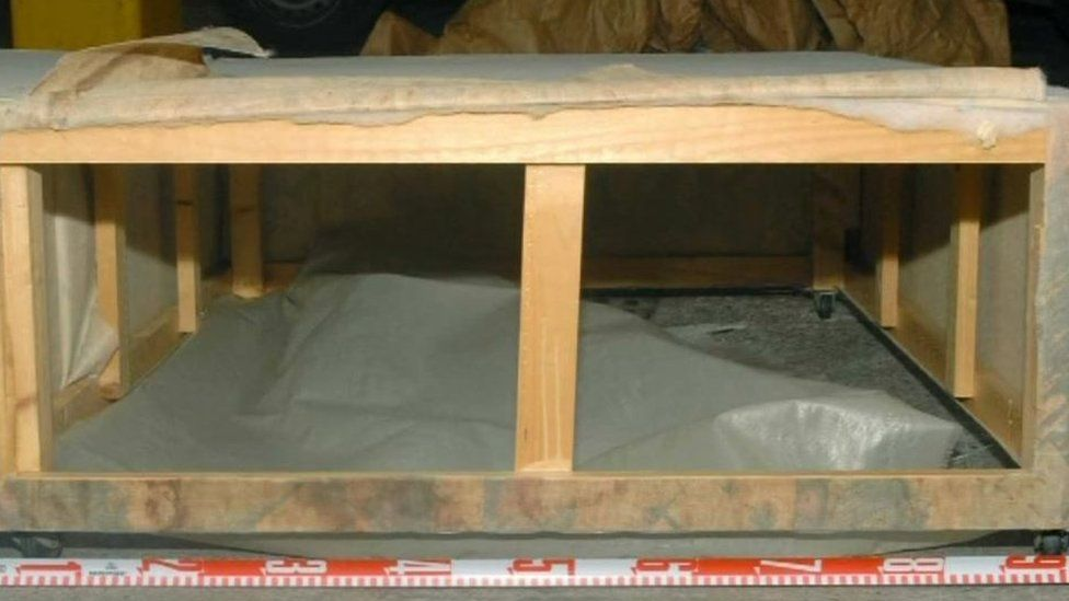 The base of the divan bed where Shannon Matthews was found