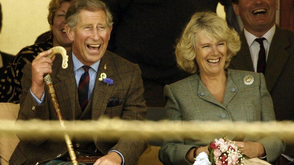 Prince Charles and the Duchess of Cornwall at the Mey Games in Caithness