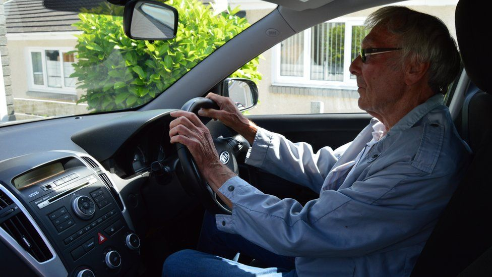 John Wright in car