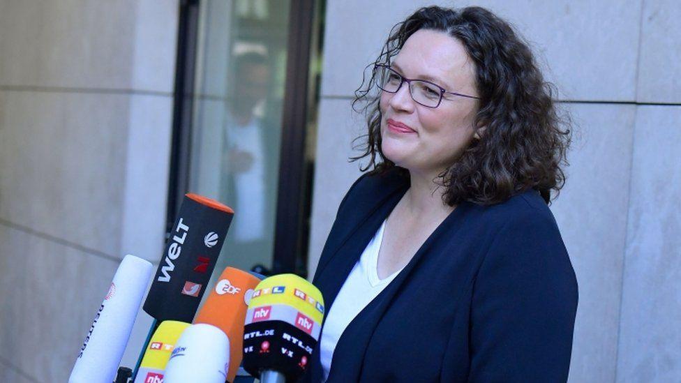 Andrea Nahles, former SDP leader