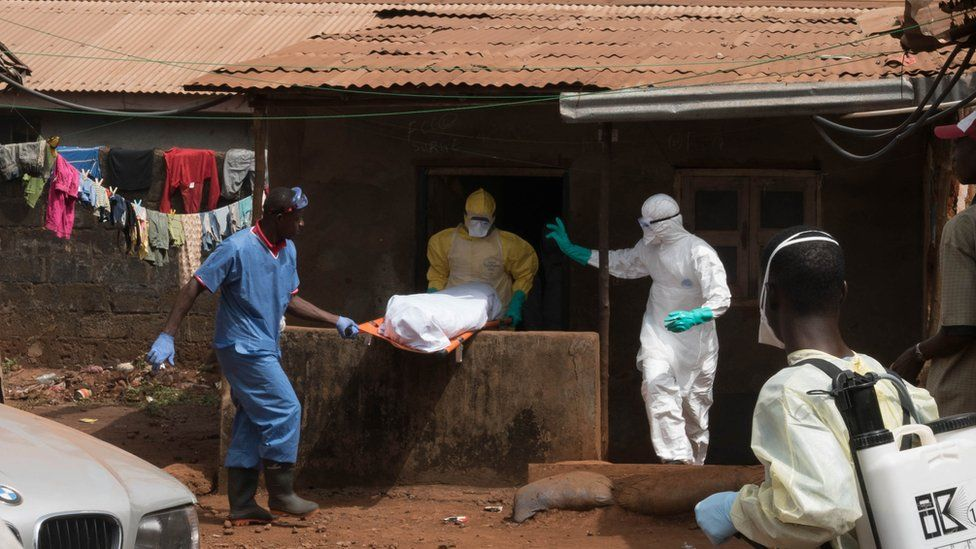 Ebola burial team in Freetown, Sierra Leone (file picture)