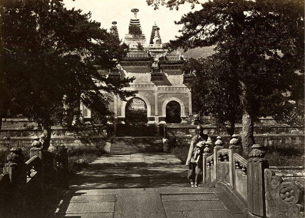 Thomas Child. No. 138. Pe-Yun-Tze, Azure Cloud Temple. 1870s. Albumen silver print.