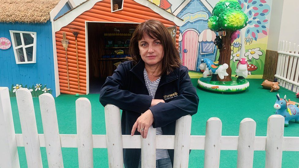 Janice Dunphy, owner of the Web Adventure Park indoor play centre