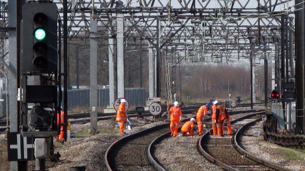 Rail maintenance work (file image)