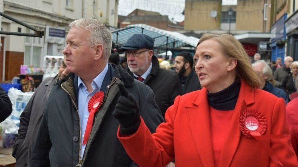 Ian Lavery with Labour's Walsall North candidate Gill Ogilvie