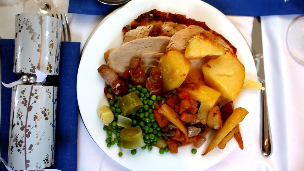 Generic image showing a Christmas dinner