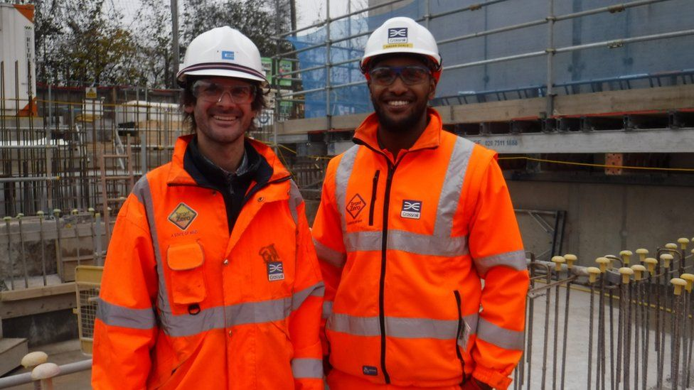 Simon Taylor and Kadar Duale at Crossrail Stepney Green sight