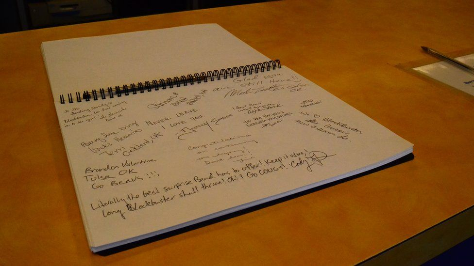 Visitors' notebook