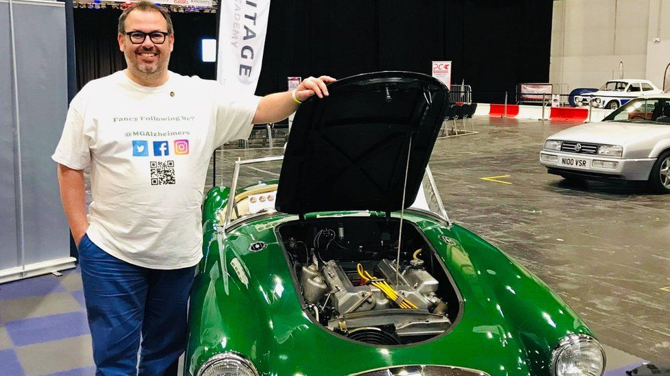 James Davis with the 1959 MG A Series Twin Cam