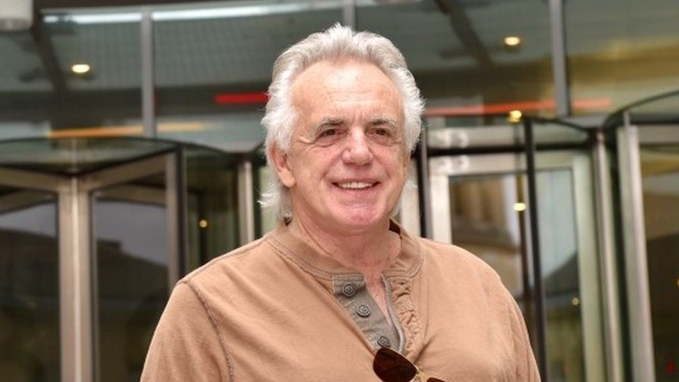 Peter Stringfellow outside the BBC
