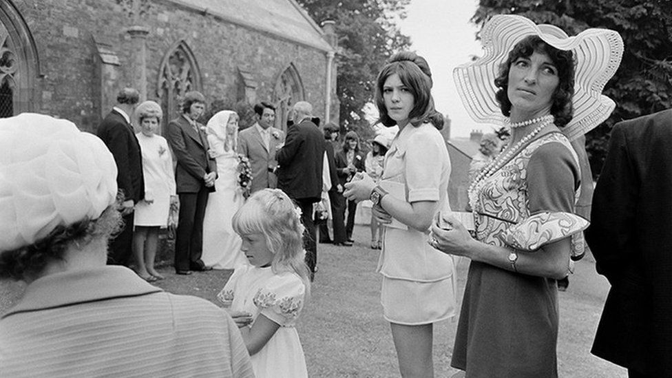 Wedding guests in Holsworthy, August 1972
