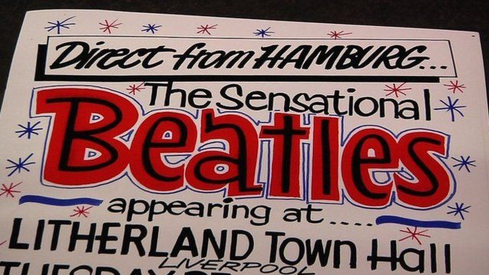 Tony Booth poster advertising the Beatles