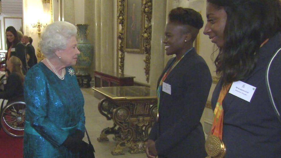 The Queen and Nicola Adams
