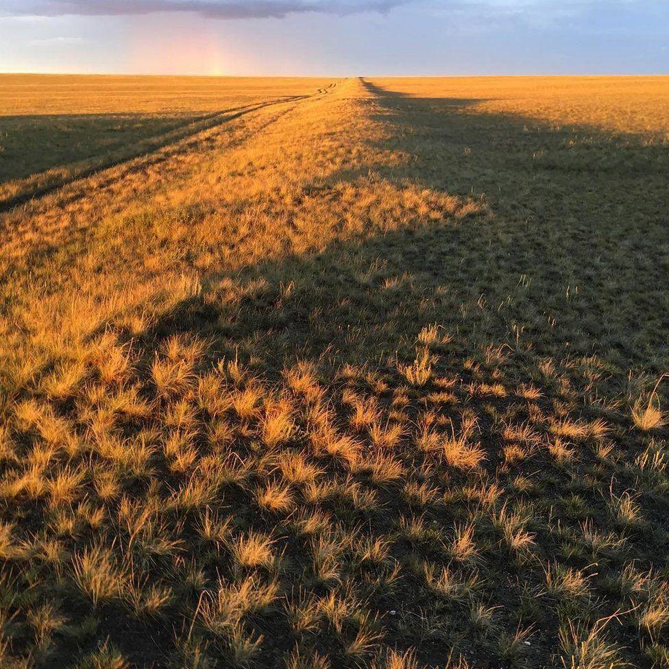 Wall of Genghis Khan in Mongolia