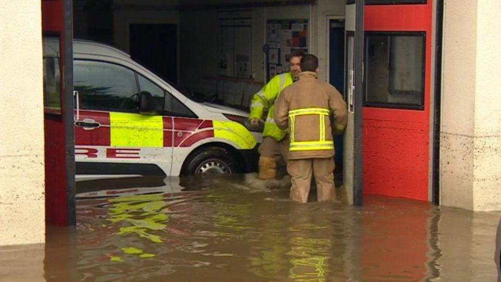 Fire station at Leyburn