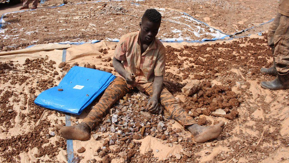 A miner in Mubende