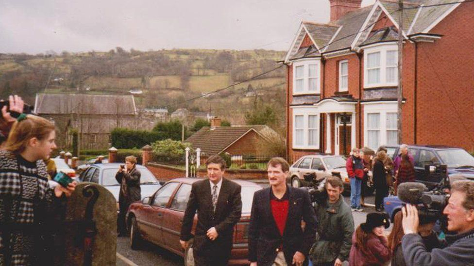 Joe Tanner yn Llanddewi Brefi yn 1995