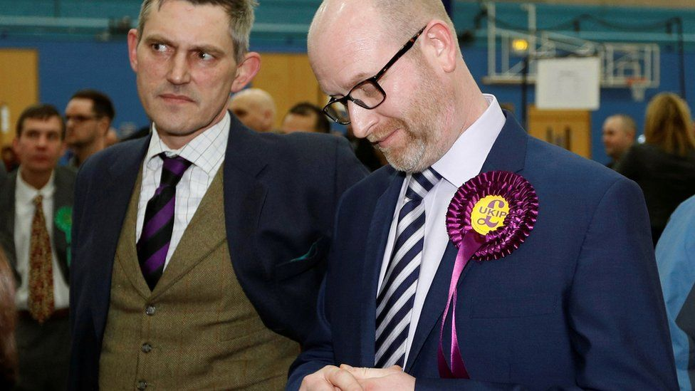 Paul Nuttall at the Stoke count