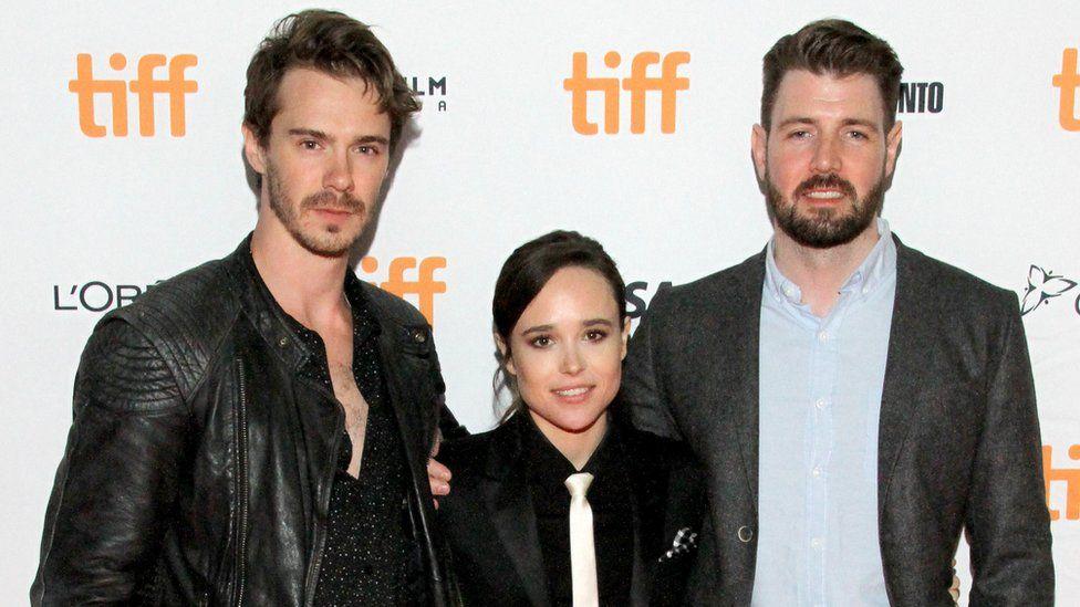 Sam Keeley, Ellen Page and David Freyne