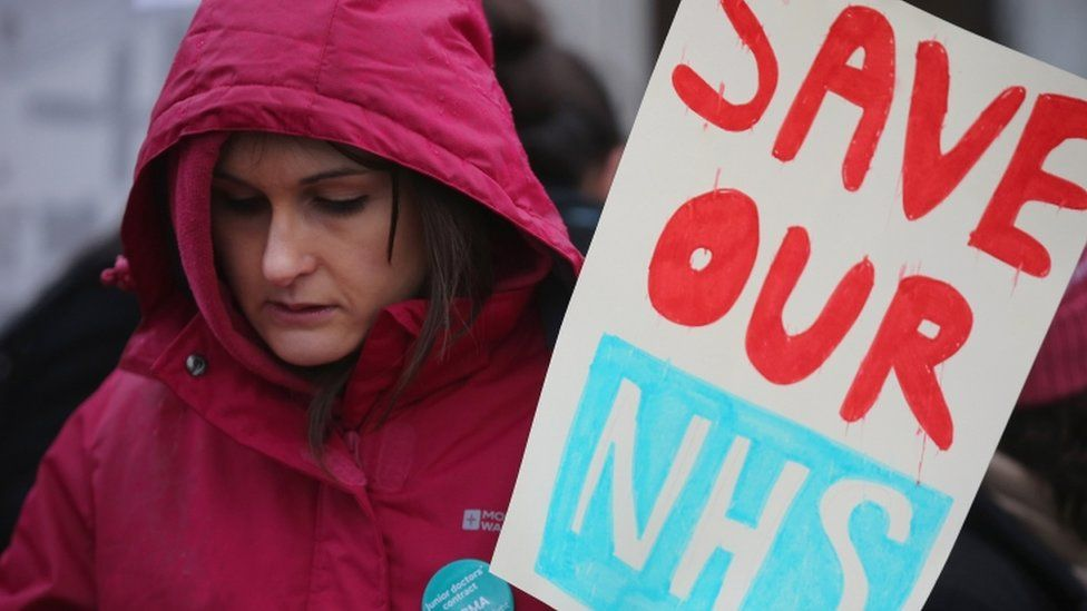 Junior doctor on strike