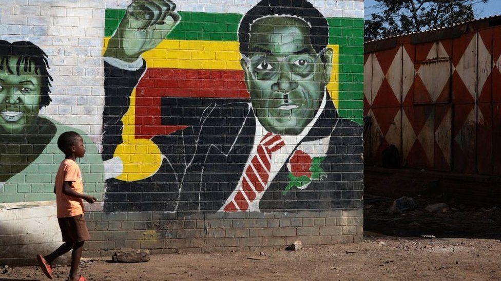 Mural of Mugabe
