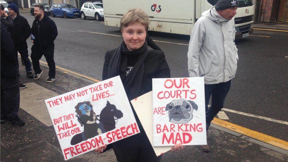 Nazi pug protest