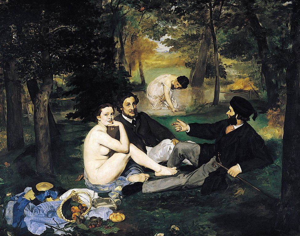 Le dejeuner sur l'herbe by Edouard Manet, (1863)