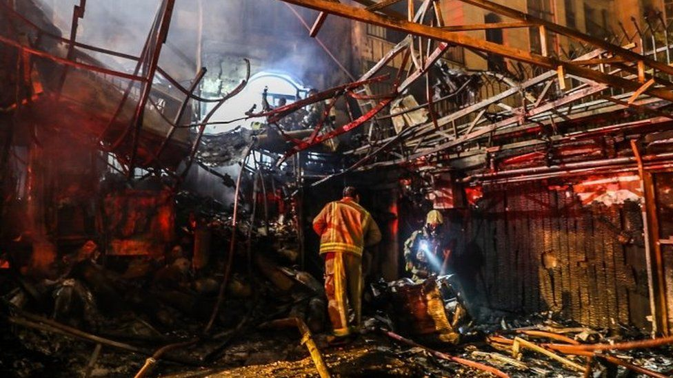 Aftermath of a blast at a clini in Tehran (30/06/20)
