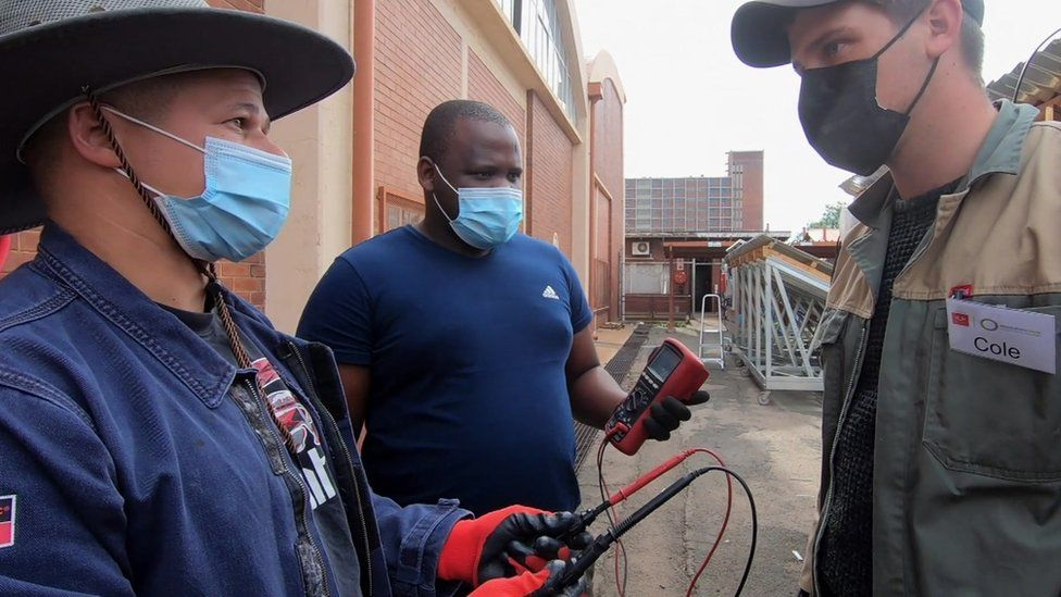 A training at Green Solar Academies