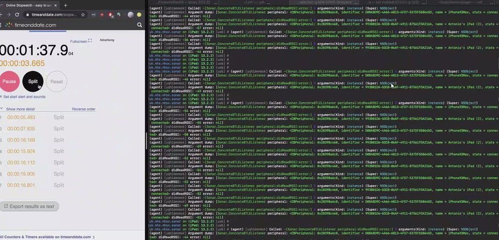 App Bluetooth analysis log