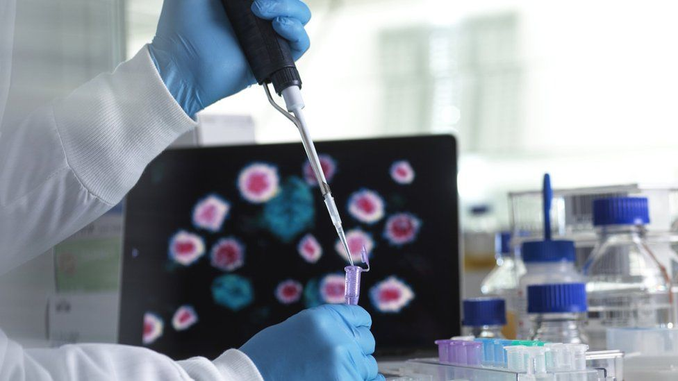 A virus sequence stock image