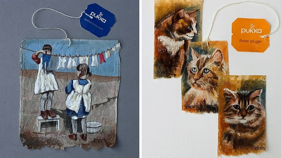 Wash Day and 3 Ginger Cats by Jan Heath