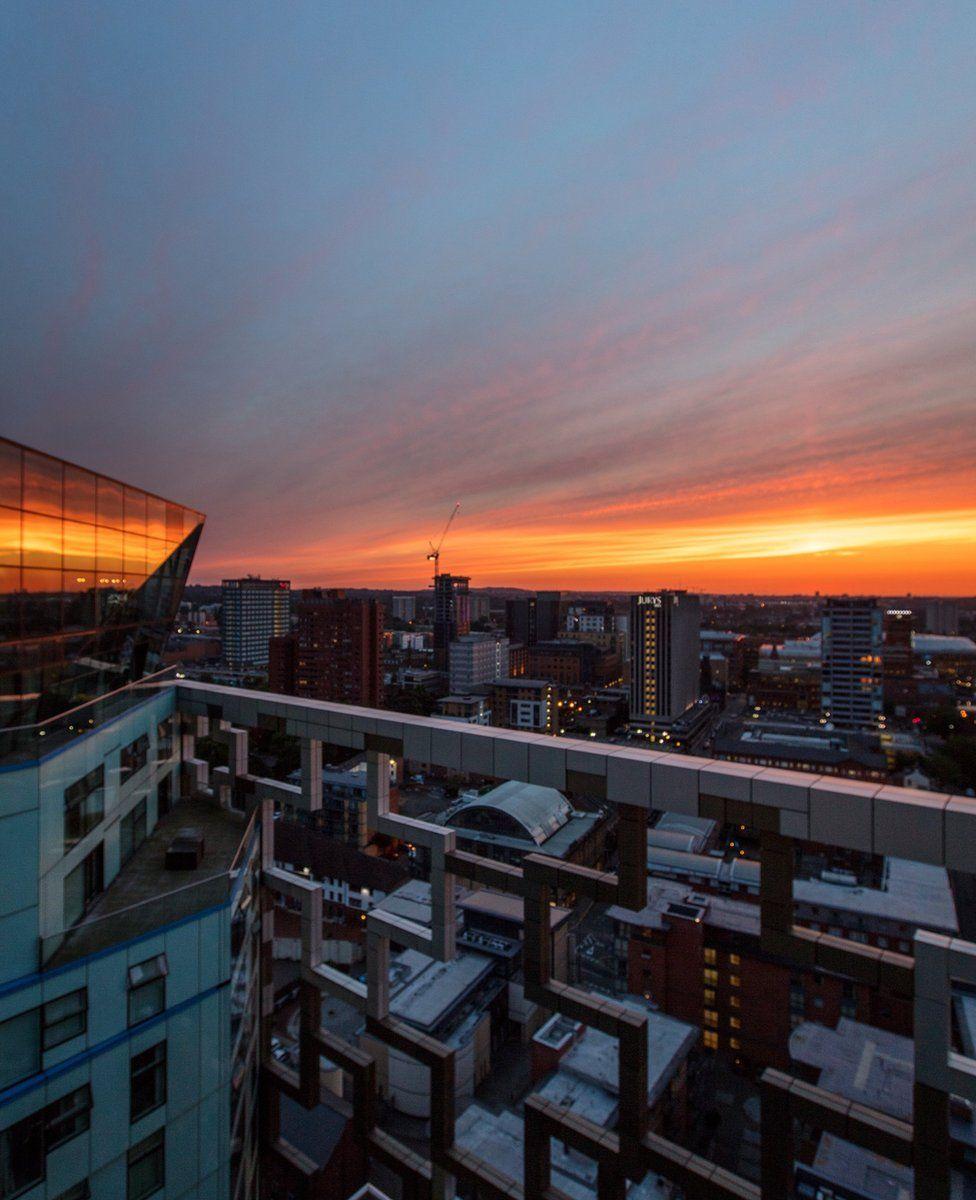 Sunset across Birmingham