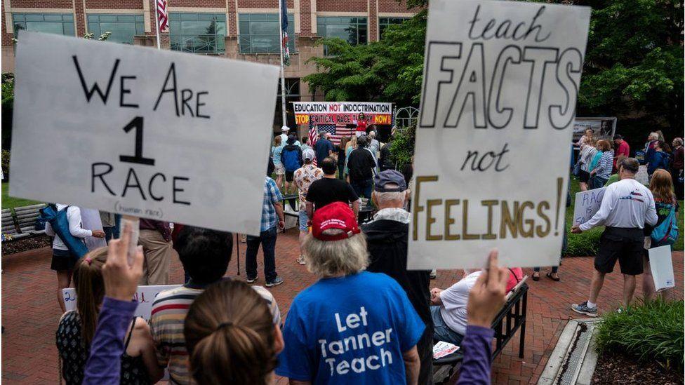 Protesters in Virginia
