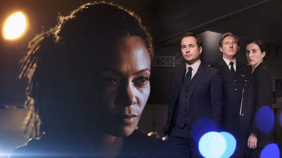 Thandie Newton, Martin Compston, Adrian Dunbar and Vicky McClure in Line of Duty