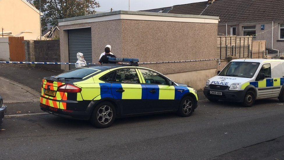 Police on Brithweunydd Road