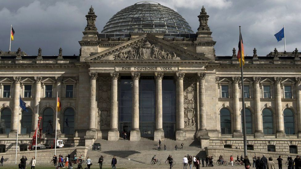 View of the Reichstag building which houses the Bundestag lower house of parliament in Berlin, 17 September 2013