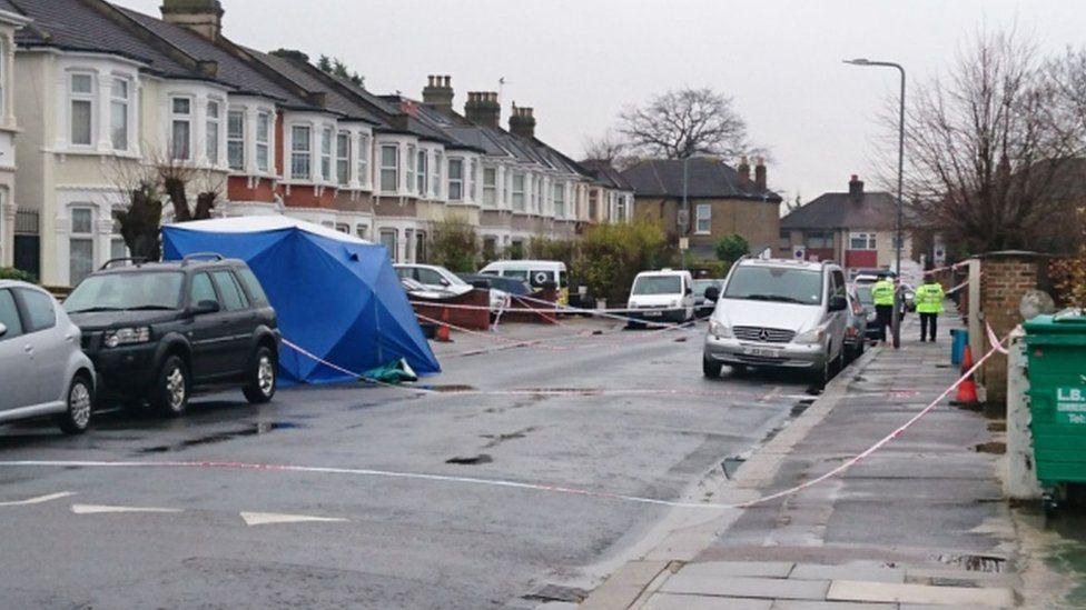 Crime scene on Norfolk Road, Seven Kings