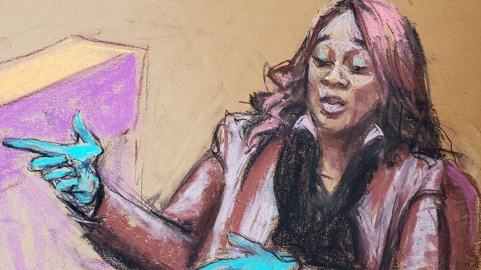 Shawanda Hill in court