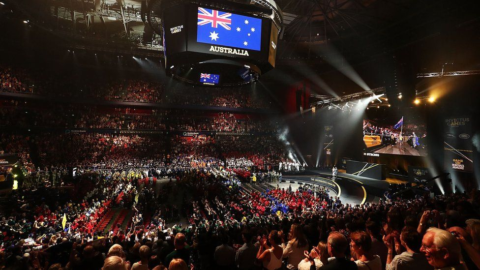 Sydney Olympic Park during the closing ceremony of the Invictus Games 2018