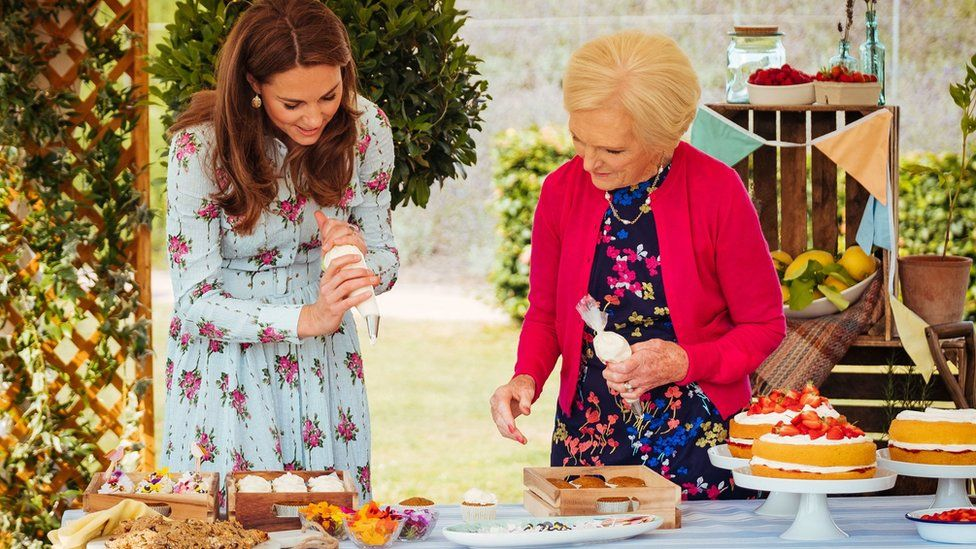 The Duchess of Cambridge with Mary Berry