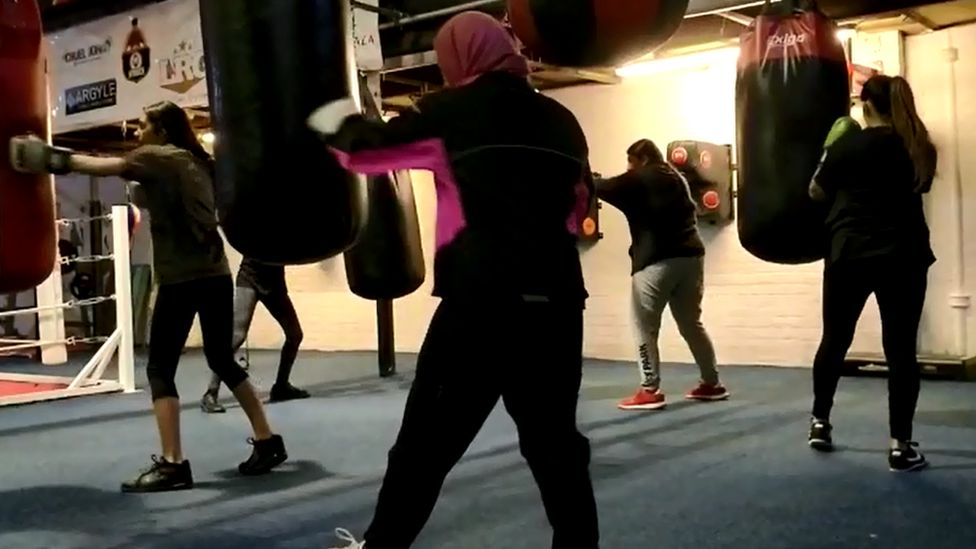 BME class in Glasgow boxing gym