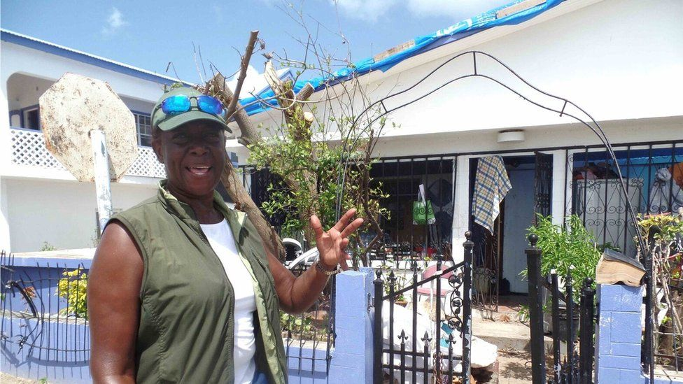 Myra Askie has been cleaning her 75-year-old mother's home so she can return to Barbuda