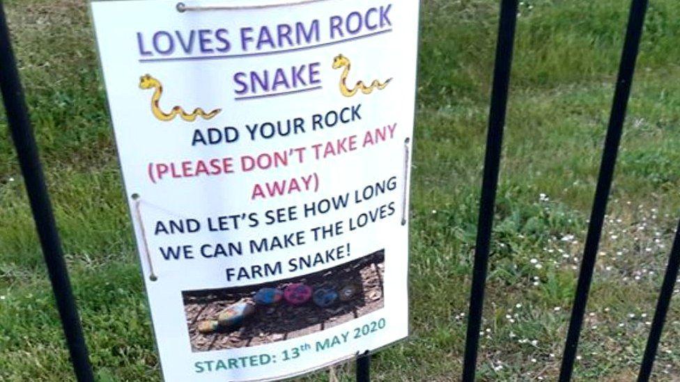 Rock snake sign