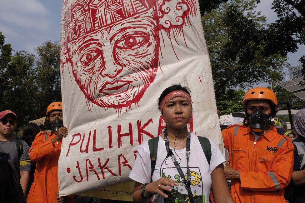 Protester in Jakarta