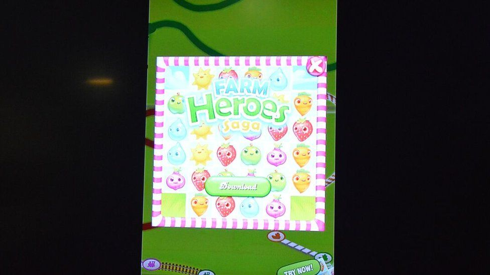 A screen of a game on which InMobi sells advertising