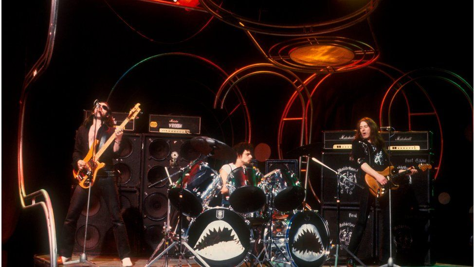 Motorhead performing on Top of the Pops in the late 1970s