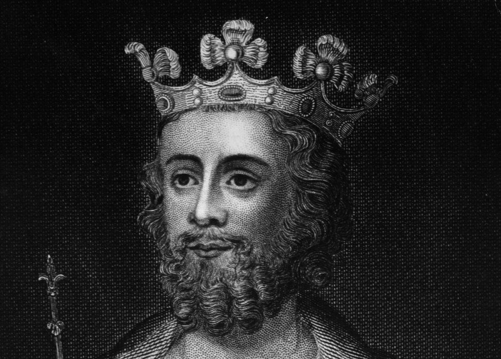 A drawing of Edward II
