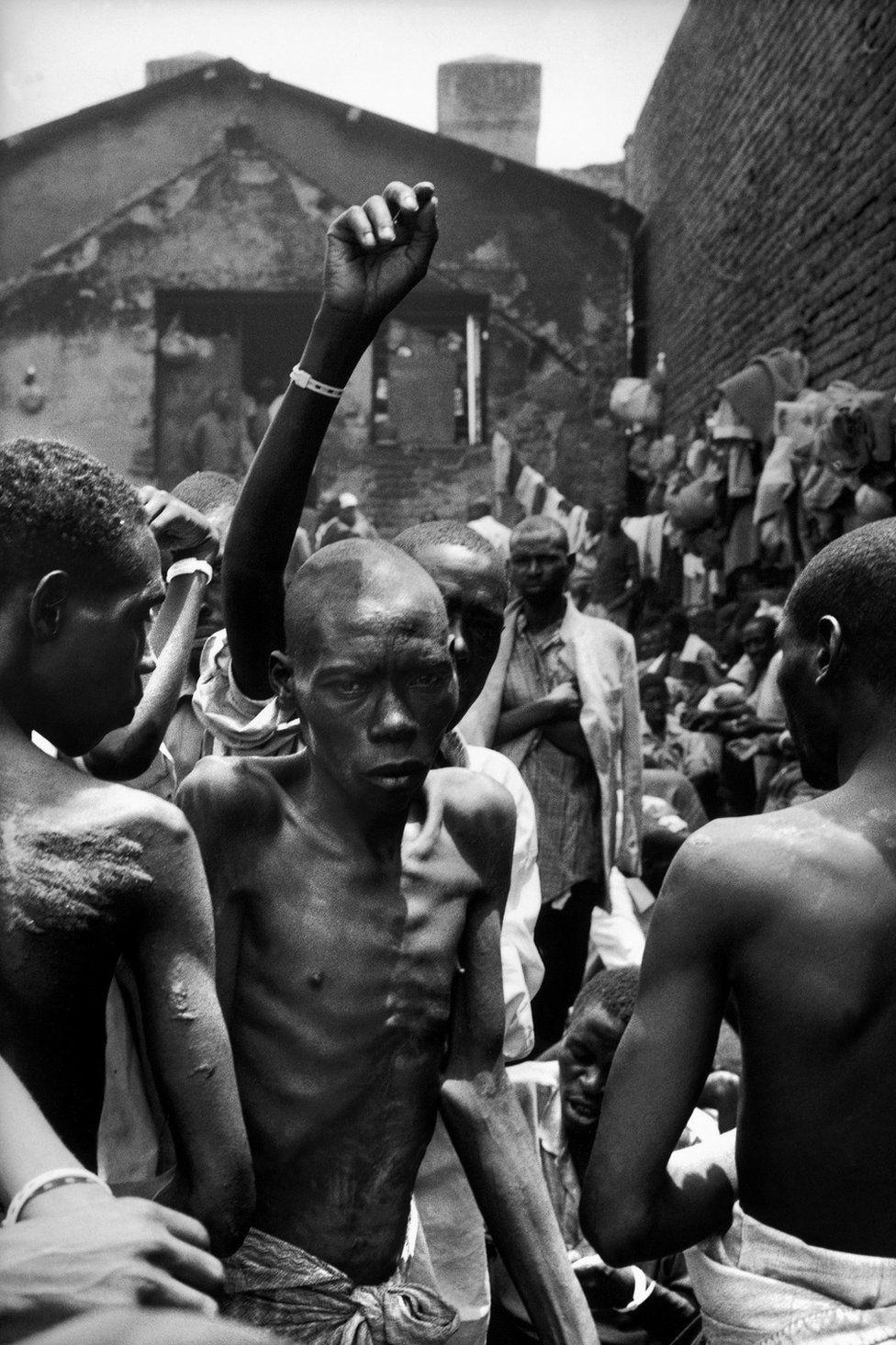 Genocide suspects seen in Kigali prison, Rwanda- 1994